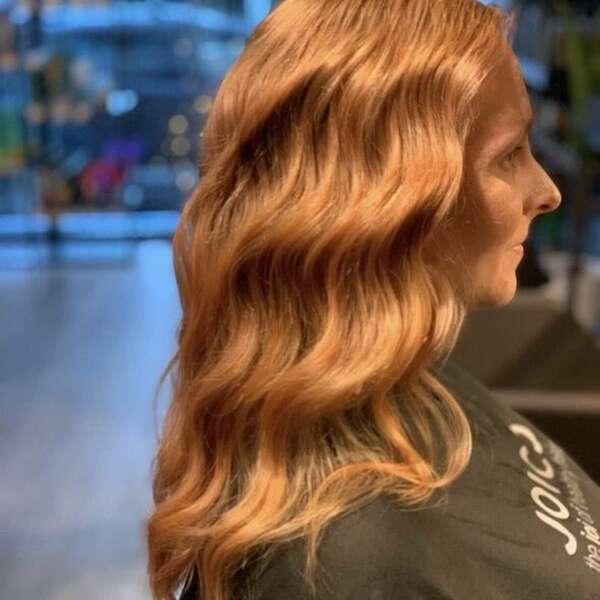Kobberfarget hår Joico 2